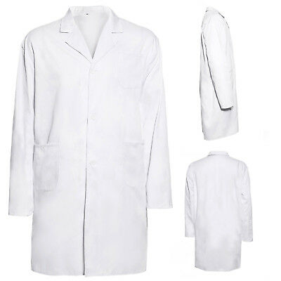White Lab Coat Medical Doctor Technician Food Coat Warehouse Uniform