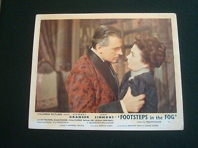 JEAN SIMMONS FILM LOBBY CARDS 10 x 8 FOOTSTEPS IN THE FOG SET of 8 COLOUR