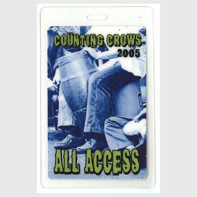 Counting Crows authentic 2005 concert tour Laminated Backstage Pass collectible