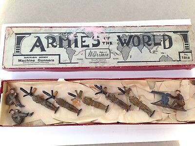 Britain's Armies of the World: Machine Gunners. Boxed set 1318. Prob. 1930s