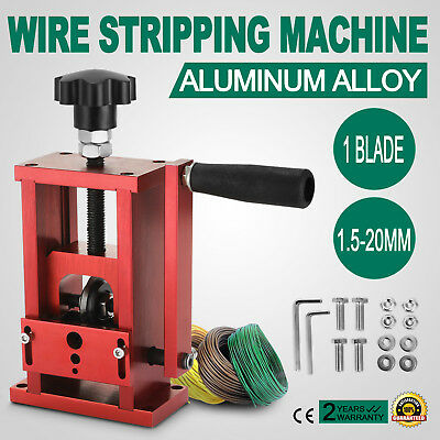 Manual Electric Wire Stripping Machine Recycle Tool Industrial 1.5-20mm Ship