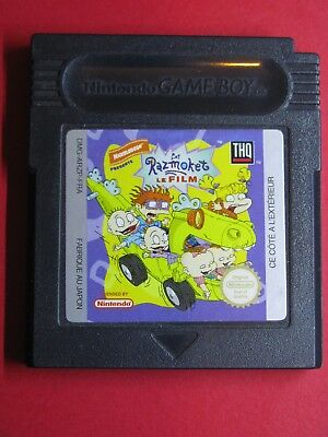 Jeu Nintendo Game Boy @@ Color @@ Advance @@ Razmoket Le Film @@ Test Ok