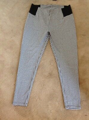 Tu black and white leggings size 16