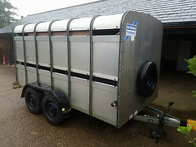 IFOR WILLIAMS TA510 12FT Livestock twin axle trailer sheep cattle decks
