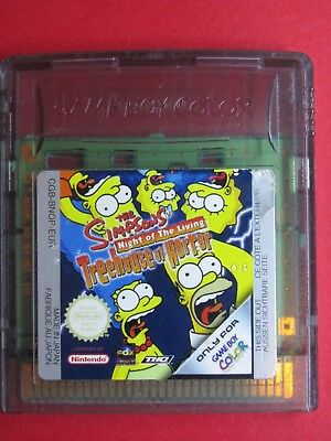 Jeu Nintendo Game Boy @@ Color @@ Advance @@ The Simpsons Treehouse Of Horror