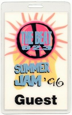 The Beat 92.3 Summer Jam 1996 Laminated Backstage Pass Fugees Mary J. Blige