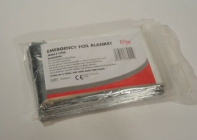 5x Emergency Foil Blanket 200cm x 140cm Space Blanket Pack Five