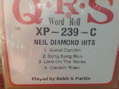 Neil Diamond  4  Selections  Brand New Long Play Pianola  Player Piano  Roll