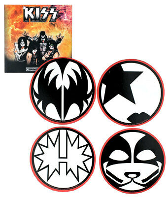 KISS Collectible Round Coasters - Set of Four - New And In Package