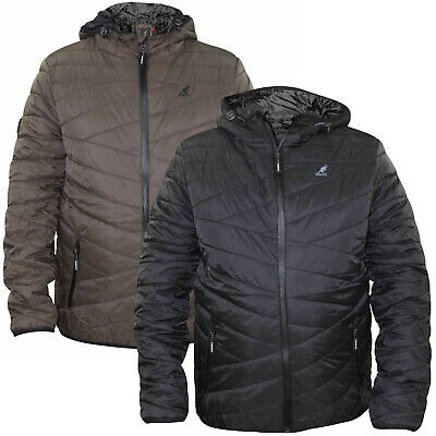 New Kids Boys Kangol Brand Quilted Light Padded Concealed Zip Casual Coat Jacket