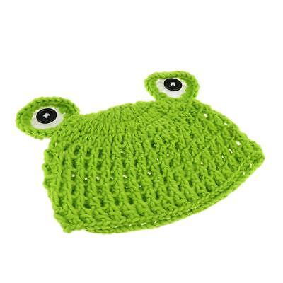 Newborn Handmade Crochet Knit Cap Make Your Baby Looks More Lovely Frog Hat