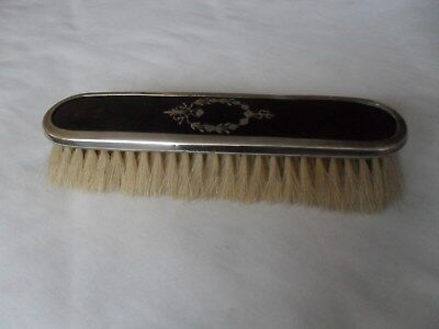 Antique solid silver and faux tortoiseshell clothes brush hallmarked 1921