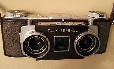 Vintage Kodak Stereo Camera With Case AS IS !!!!