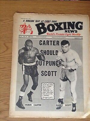 BOXING NEWS - RUBIN CARTER v HARRY SCOTT - MARCH 5, 1965