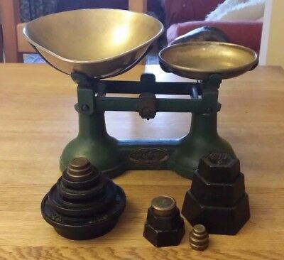 Vintage Scales with Weights - F.J.Thornton&Co.LTD - The Viking