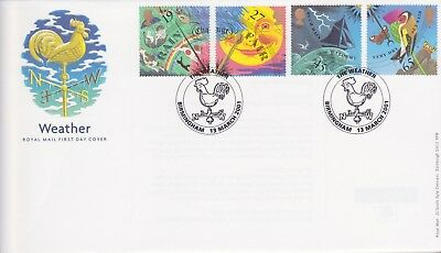 Gb Stamps First Day Cover 2001 Weather Birmingham Rare Pmk Collection