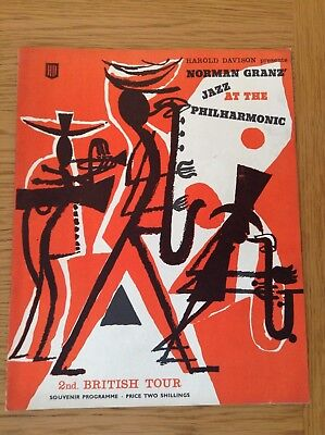 NORMAN GRANZ JAZZ AT THE PHILHARMONIC PROGRAMME 2nd BRITISH TOUR MAY 2 - 17 1959