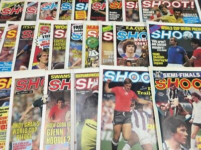 27 ISSUES OF SHOOT! MAGAZINE - ALL 1980's - YEARS 1980,1981,1982 + 1981 SPECIAL