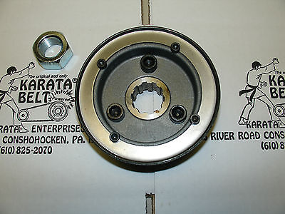 """new"" Genuine Karata Sturgis Enclosed Primary Front Pulley & Nut"