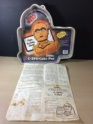 Vintage 1983 Wilton C3PO Cake Pan - Lucasfilm Ltd Insert Instructions