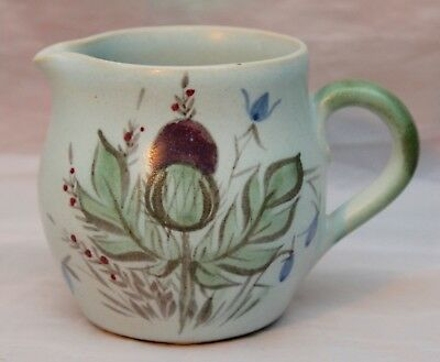 Studio Pottery -  Buchan Portobello Edinburgh  Scotland  Thistle Cream Jug