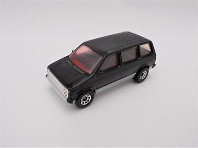 Matchbox Superfast DODGE CARAVAN MINI VAN in BLACK with LOW SILVER STRIPE TAMPOS
