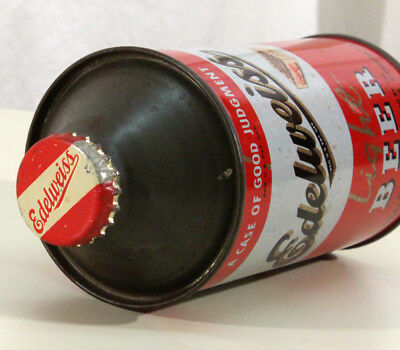 Edelweiss Irtp 4% Alcohol Cone Top Beer Can+Cap Chicago, Illinois Schoenhofen Il