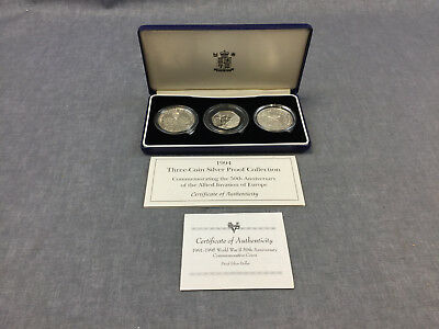 1994 50th Anniversary Allied Invasion Europe Silver Proof Coin Collection TCS473