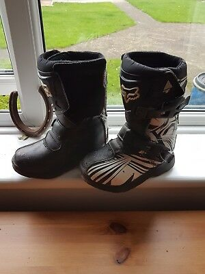 fox motorbike boots size 11 kids excellent condition worn only a few times
