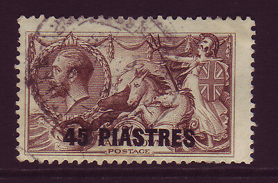 BRITISH LEVANT. 1921. SG 48, 45pi on 2/6 CHOCOLATE BROWN.