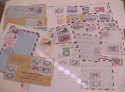 COSTA RICA  39 SMALL COVERS  1950's MOSTLY TO USA INCLUDES REGISTERED