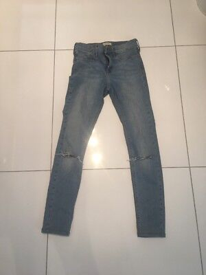 River Island Skinny Molly Jeans 8 Short Ripped