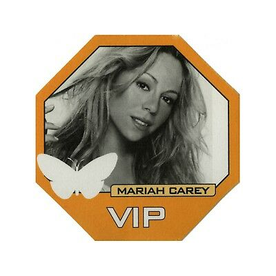 Mariah Carey authentic 1998 Butterfly Tour satin cloth Backstage Pass VIP