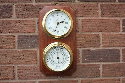 Abbey  Ships Clock And Barometer Made In England