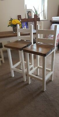 Shabby Chic, Rustic, Breakfast Bar Stools