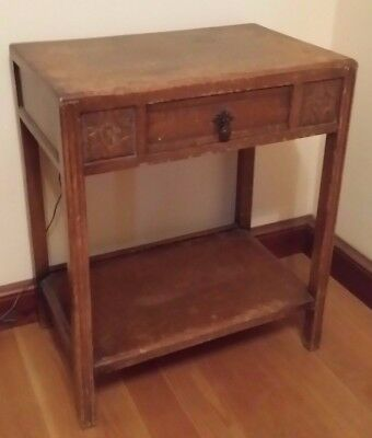 Small Wooden Hall Table