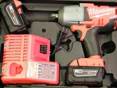 "Milwaukee M18 Fuel 2763-22 Cordless 1/2"" Impact Wrench Kit w/ Friction Ring"