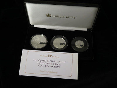 Jubilee Mint The Queen & Prince Philip Solid Silver Proof Coin Collection 2016