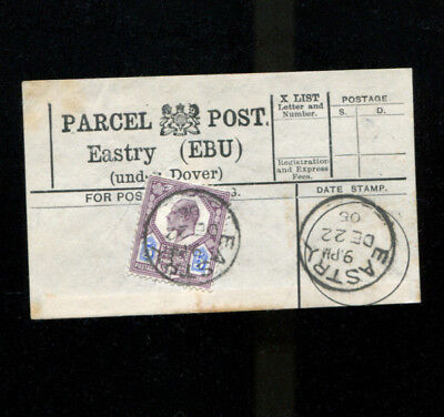 Eastry Under Dover Kent Parcel Post Label 1905