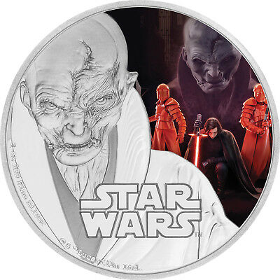 1 Oz Silber Proof Star Wars The Last Jedi Supreme Leader Snoke 2017 Niue Silver