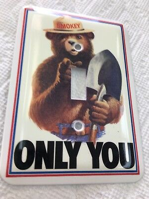 U.S. FOREST SERVICE SMOKEY BEAR METAL Switch Plate Cover