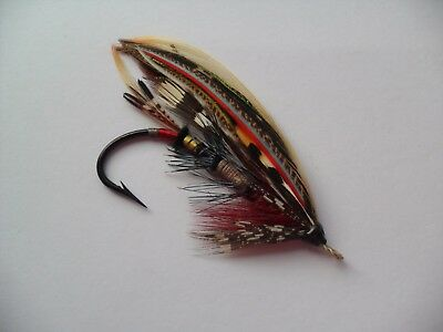 Nicholson or Delvine Size 4/0 Vintage Gut Eye Salmon Fly ? UNUSED Date 1920