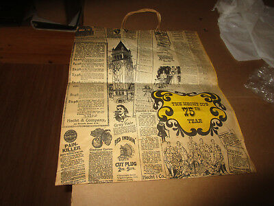 Vintage C. 1930's Hecht Company Large Paper Shopping Bag