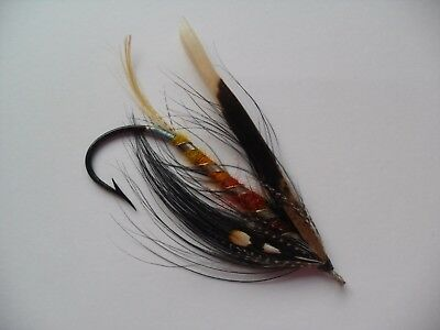 Dunt Size 7/0 Vintage Gut Eye Salmon Fly Date early 20th C