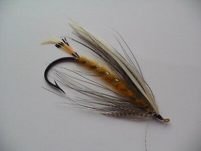 Size 7/0 Vintage Gut Eye Salmon Fly Date early 20th C