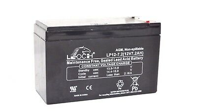 New 2017 Leoch LP12-7.2 12V 7.2Ah VRLA AGM Battery w/ F2 T2 Terminals - GP1272