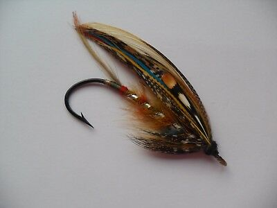 ? HARDY Rainbow Size 6/0 Vintage Gut Eye Salmon Fly Date 1920's or 30's