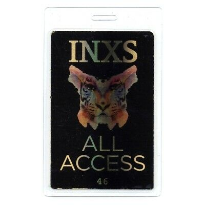 INXS authentic 2010 concert Laminated Backstage Pass Original Sin Tour Black