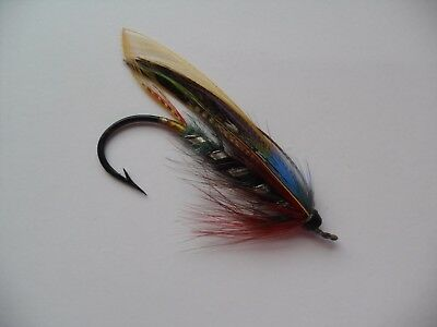 ? HARDY Black Dose Size 5/0 Vintage Gut Eye Salmon Fly  UNUSED Date 1915