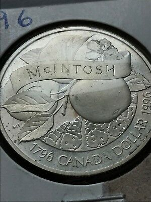 1996 Canada 92.5% Sterling Silver Dollar - 200th Anniversary John McIntosh